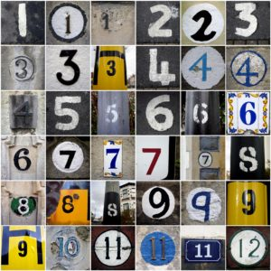 numbers collage image