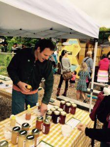 Volunteers at PSBA's honey sales booth.